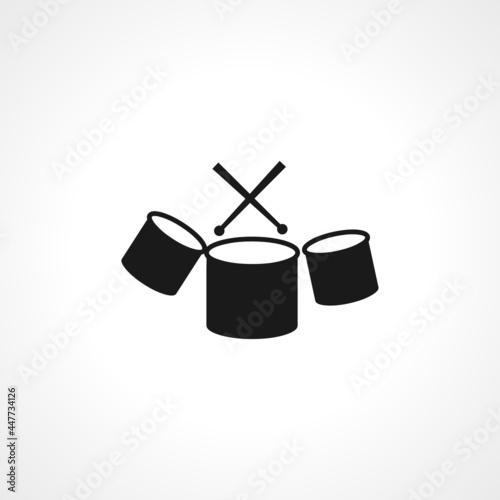 Drum icon. Drum simple vector icon. Drum isolated icon. Fototapet