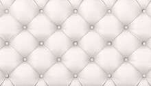 Tufted White Leather Background.