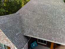 Roof With Hail Damage And Markings From Inspection