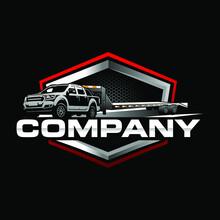 Double Cabin Trailer Logo Vector