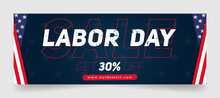 Labor Day Sale Facebook Cover Page Timeline Web Ad Banner Template | Modern Layout Concept Design
