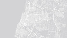 Urban Vector City Map Of Tel Aviv, Israel, Middle East