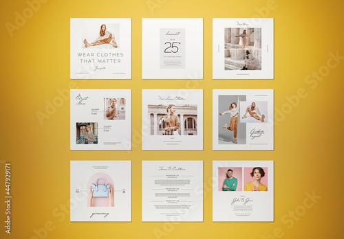 Aesthetic Minimalist Fashion Social Media Post