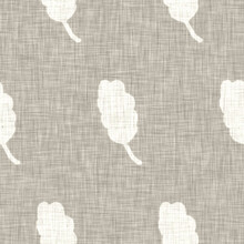 Hand Drawn Grey Flower Motif Linen Texture. Whimsical Garden Seamless Pattern. Modern Spring Doodle Floral Nature Textile For Home Decor. Botanical Scandi Style Rustic Eco Ecru All Over Print