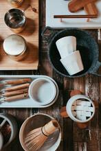 Set Of Kitchen Utensils On The Table