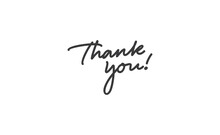 Thank You Quote. Hand Drawn Calligraphic Lettering. Modern Calligraphy For Thanks Message. Vector Illustration.