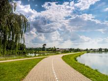 Bike Path By The Lake