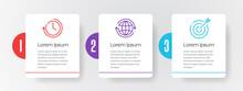 Modern Timeline Infographic Template 3 Steps