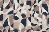 Modern photo wallpaper with geometric abstraction. Digital Interior decoration art. Creative design for wallpaper, wall decor, print, mural. - 448027723