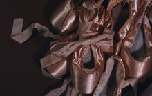 Close Up Ballet Pointe Shoes