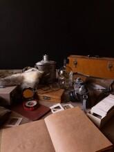 Travel Photographer's Desktop.  Vintage Photo