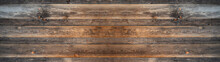 Old Brown Rustic Dark Wooden Texture - Wood Timber Background Panorama Long Banner..