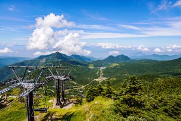 横手山山頂の風景・日本・長野県・群馬県