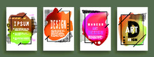 Artistic Covers Design. Creative Colors Backgrounds. Trendy Futuristic Design