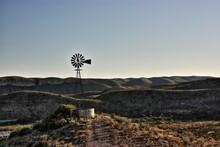 Hilltop Windmill Near Mexico