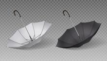 Two Isolated Realistic Umbrella Icon Set