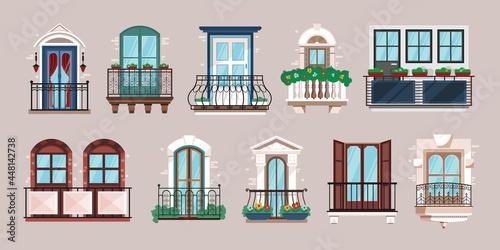Fotografia Balcony Horizontal Set