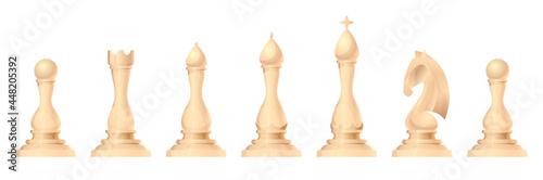 Billede på lærred Chess figures vector set