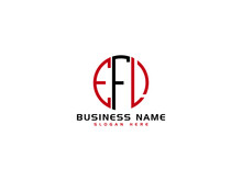 Creative EFL Logo Letter Vector Image Design For Business