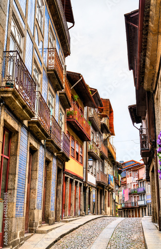 Traditional architecture of Guimaraes in Portugal