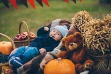 A Boy With An Autumn Harvest
