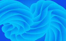 Abstract Blue Background With 3d Waves And Curves