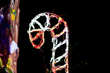 Christmas Candy Cane LED Light For Outdoor Decoration.