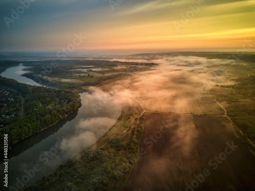Billede på lærred River scenery in the early morning.