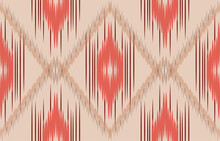 Ethnicity Ikat Seamless Pattern Geometric Ethnic Oriental Traditional Embroidery Style.Design For Background,carpet,mat,wallpaper,clothing,wrapping,Batik,fabric,Vector Illustration.