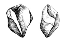 Large Stones Isolated. Cobblestones