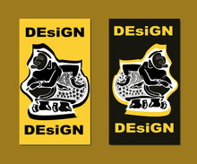 Wayang Semar Pattern Set With Dummy Text For Web Design, Landing Page, Social Media Story, And Print Material.