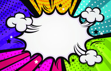 Colorful Comic Halftone Background Vector