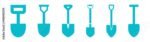 Fotografering shovel, a set of shovels for cleaning and work, icons of shovel and bayonet shov