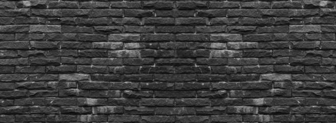Black Panorama pattern of stone walls.
