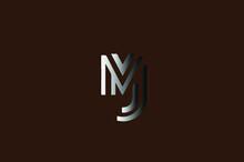 MJ Logo Combination Design Suitable For A Company - Vector