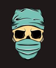 The Death Nurse Skull Using The Medical Mask