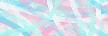 Abstract Painting Art With Candy Blue And Pink Brush For Presentation, Card Background, Wall Decoration, Or T-shirt Design