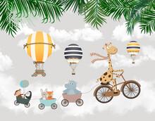 Kids Wallpaper Animals On A Bike