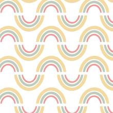 Padrão Arco-íris Cor Pastel