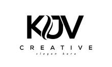 Letter KJV Creative Logo Design Vector