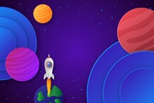 Paper Style Colorful Galaxy Background