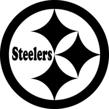 Pittsburgh Steelers Black And White Logo Svg, Steelers Logo, Football, NFL Logo, Team, Svg,  Cut File, Vector, , Logo, Icon