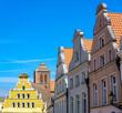 Leinwandbild Motiv old town of Wismar