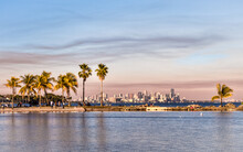Beautiful Tropical Beach In Miami Florida United States