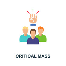 Critical Mass Flat Icon. Color Simple Element From Activism Collection. Creative Critical Mass Icon For Web Design, Templates, Infographics And More