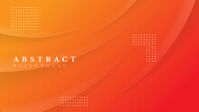 Abstract Gradient Orange Background. Can Be Used For Banner , Presentation, Web Page Etc. Vector Design Of Eps  10 File