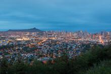 View Of Diamond Head And The City Of Honolulu Hawaii
