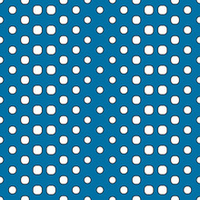 Blue Background And Abstract Polka Dots. Vector White Gradiant Dots.