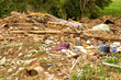 Leinwandbild Motiv Flutkatastrophe in Deutschland, NRW, Eifel am 14.07.2021