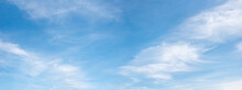 Cloudscape With Fluffy Cirrus, Blue Sky Panorama